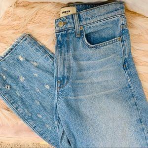 Baldwin High Rise Distressed Denim Light Jeans!